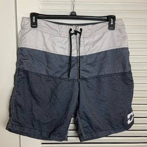34 Billabong original tribong grey swim trunks